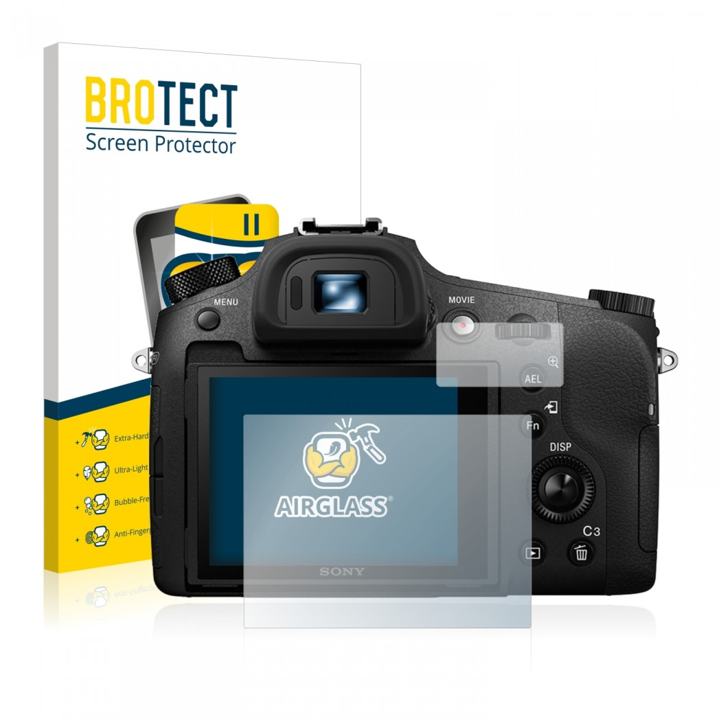 BROTECT® AirGlass® Glass Screen Protector for Sony Cyber-Shot DSC-RX10 III