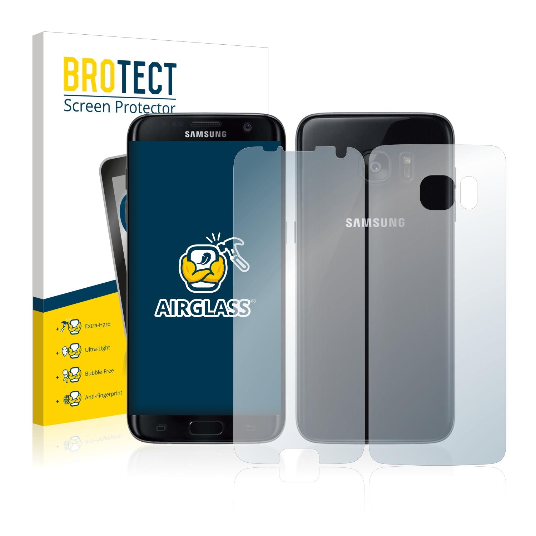BROTECT AirGlass čirá skleněná fólie pro Samsung Galaxy S7 Edge (přední + zadní strana)