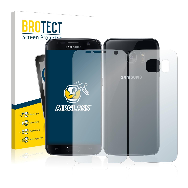 BROTECT AirGlass čirá skleněná fólie pro Samsung Galaxy S7 (přední + zadní strana)