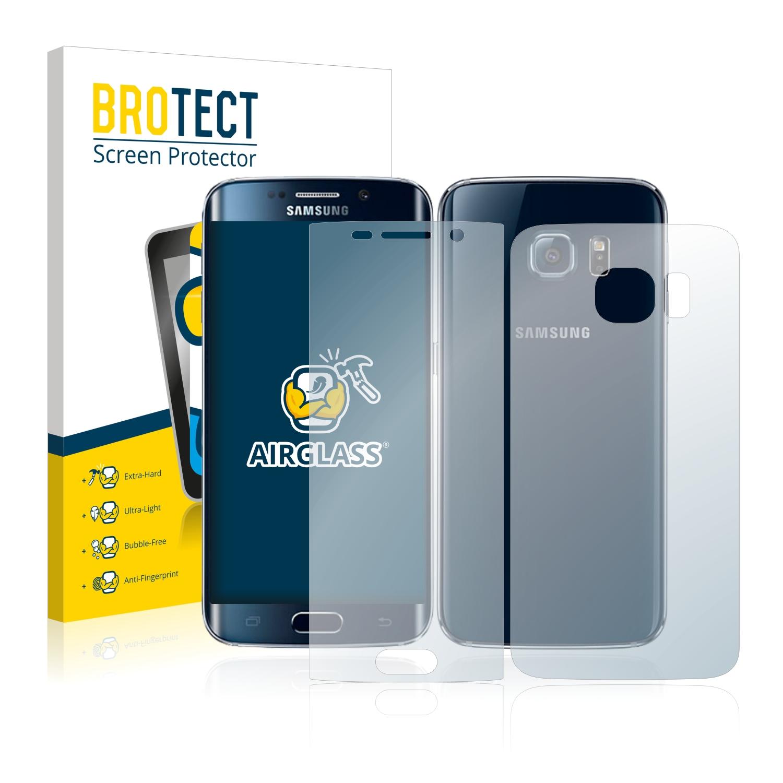 BROTECT AirGlass čirá skleněná fólie pro Samsung Galaxy S6 Edge (přední + zadní strana)