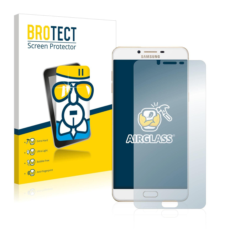 BROTECT AirGlass čirá skleněná fólie pro Samsung Galaxy C9 Pro