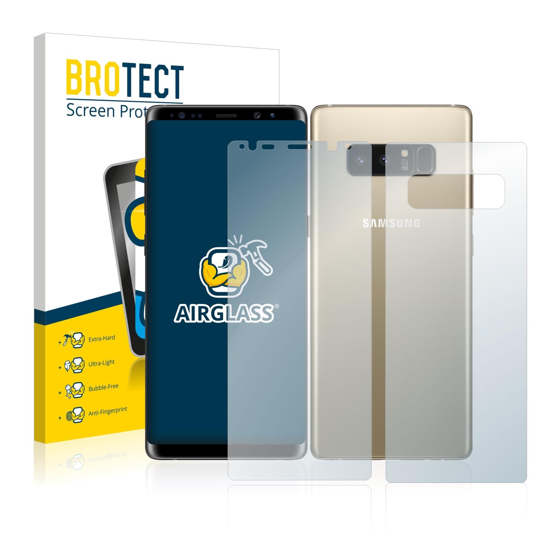 BROTECT AirGlass čirá skleněná fólie pro Samsung Galaxy Note 8 (přední + zadní strana)