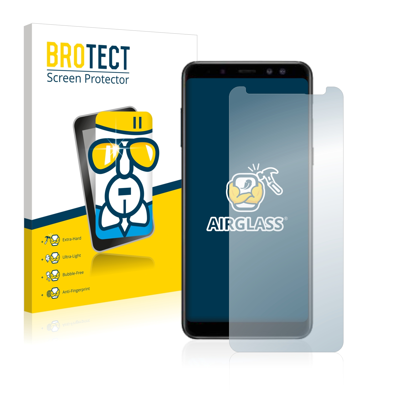 BROTECT AirGlass čirá skleněná fólie pro Samsung Galaxy A8 Plus 2018