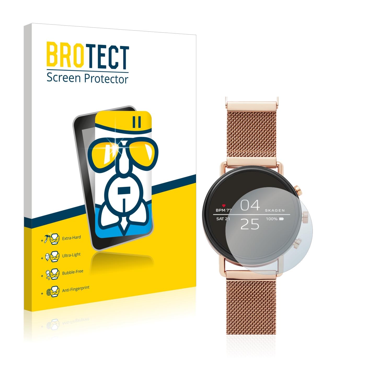 BROTECT AirGlass čirá skleněná fólie pro Skagen Smartwatch Falster 40mm