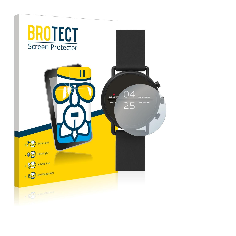 BROTECT AirGlass čirá skleněná fólie pro Skagen Smartwatch Falster 2