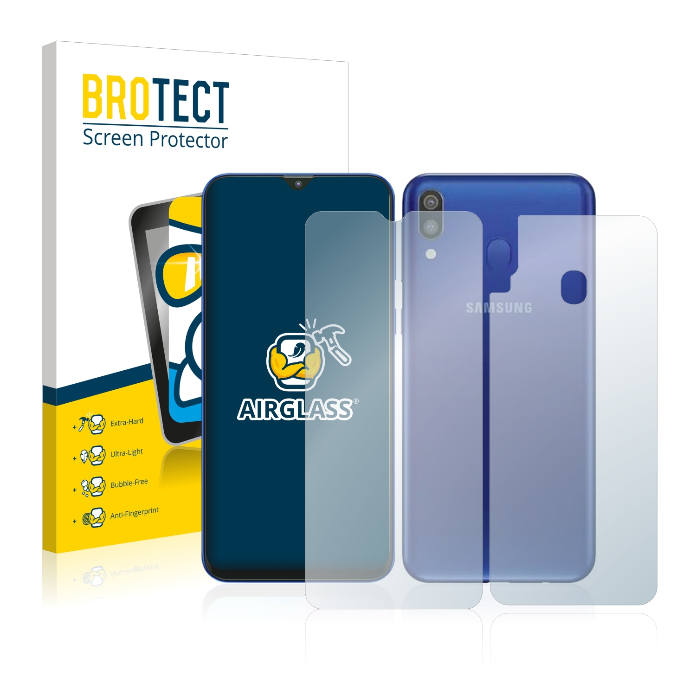 BROTECT AirGlass čirá skleněná fólie pro Samsung Galaxy M20 (přední + zadní strana)