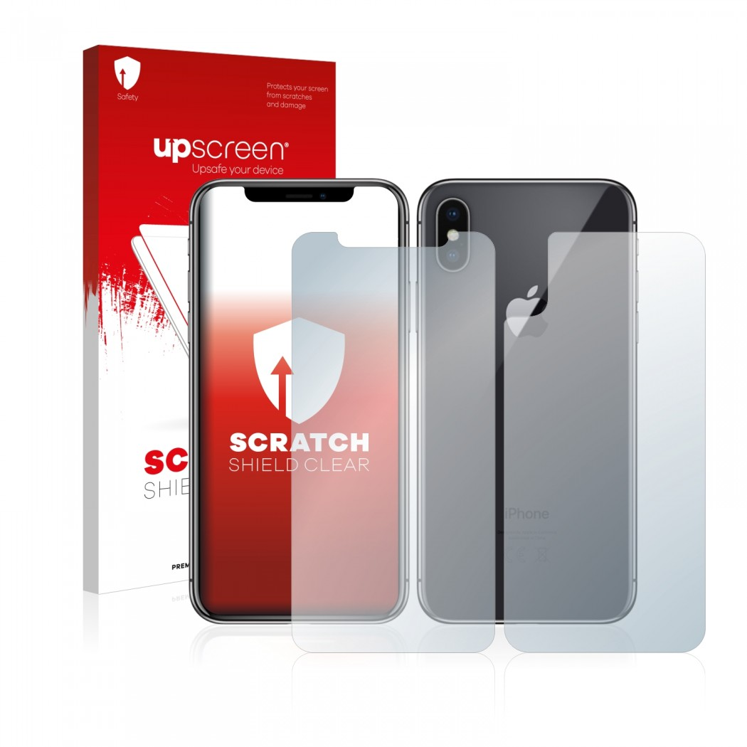 finest selection 77a45 b7a20 upscreen® Scratch Shield Screen Protector for Apple iPhone X (Front + Back)