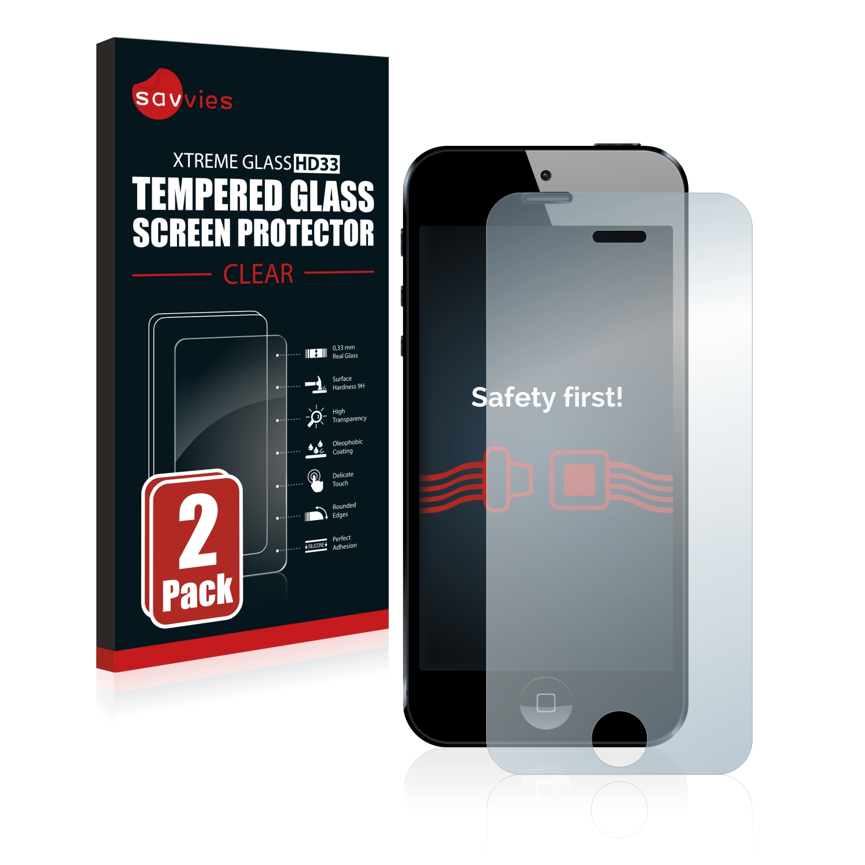 2x Savvies HD33 čiré tvrzené sklo pro Apple iPhone 5
