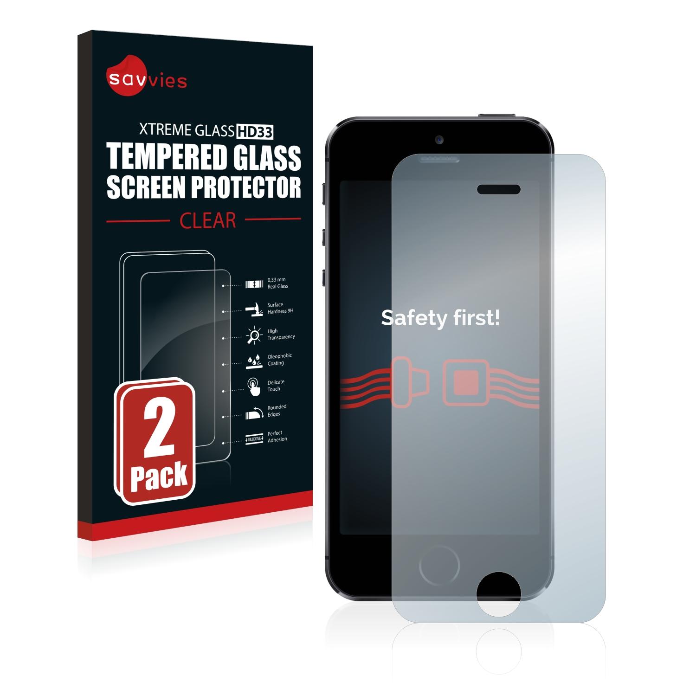 2x Savvies HD33 čiré tvrzené sklo pro Apple iPhone 5S