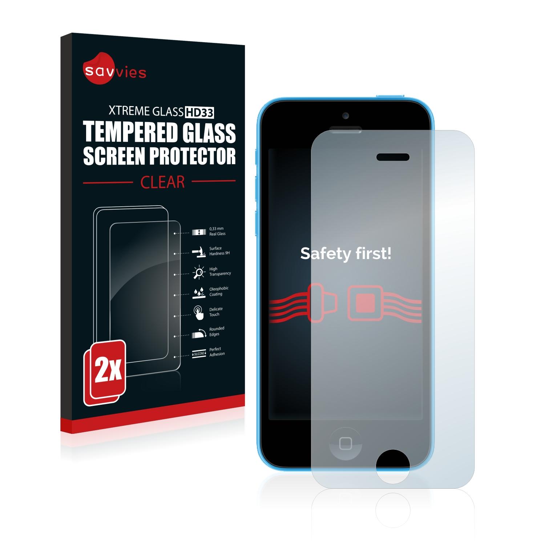 2x Savvies HD33 čiré tvrzené sklo pro Apple iPhone 5C