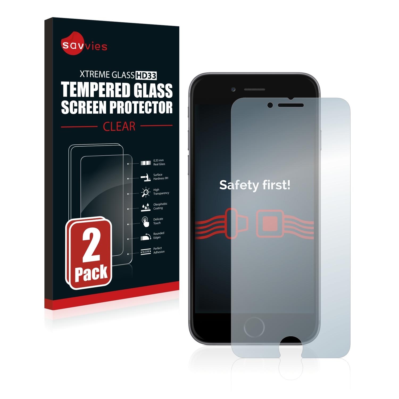 2x Savvies HD33 čiré tvrzené sklo pro Apple iPhone 6