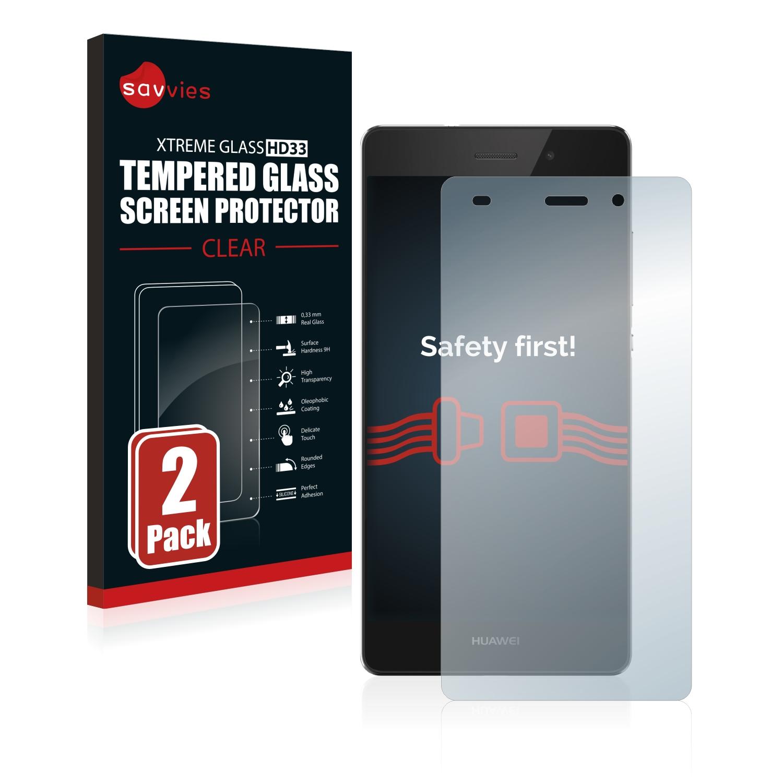 2x Savvies HD33 čiré tvrzené sklo pro Huawei P8 Lite 2015/2016