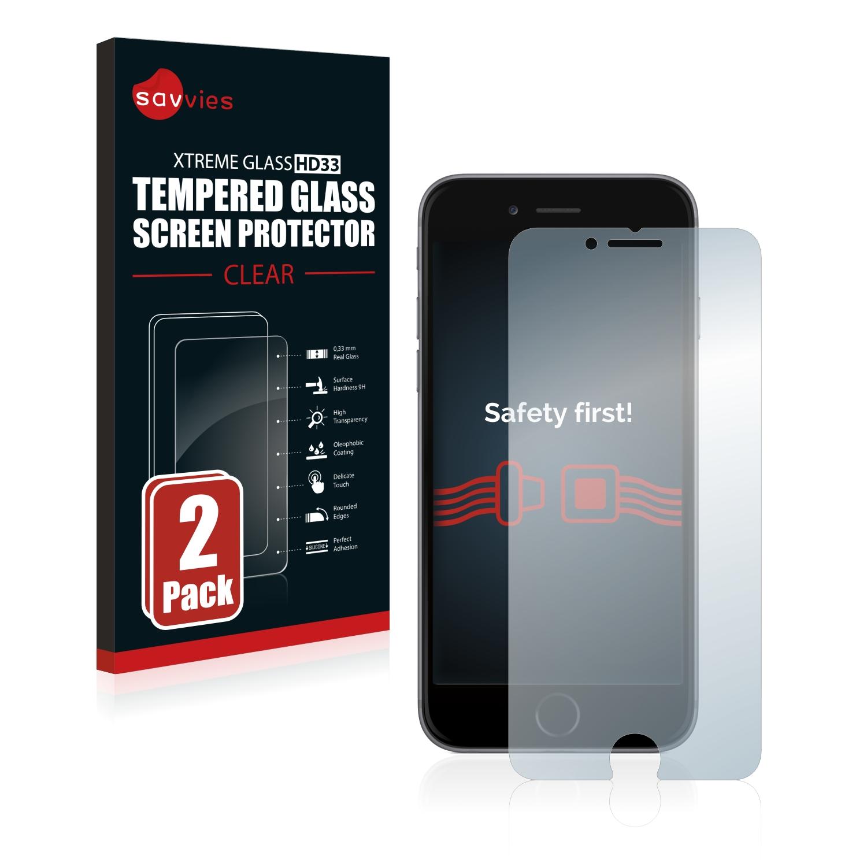 2x Savvies HD33 čiré tvrzené sklo pro Apple iPhone 6S