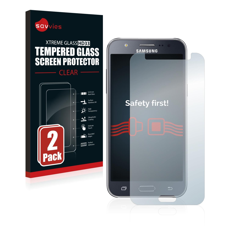 2x Savvies HD33 čiré tvrzené sklo pro Samsung Galaxy J5 2015