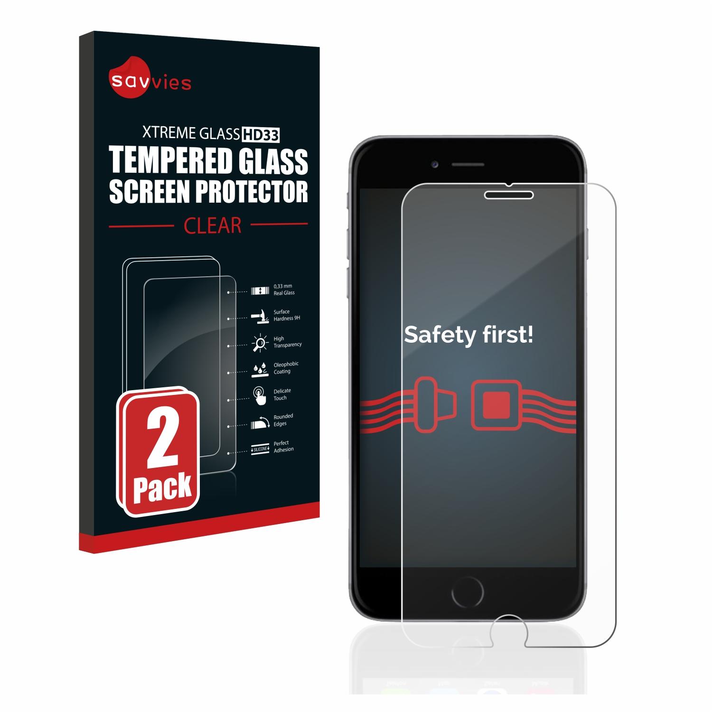 2x Savvies HD33 čiré tvrzené sklo pro Apple iPhone 6S Plus