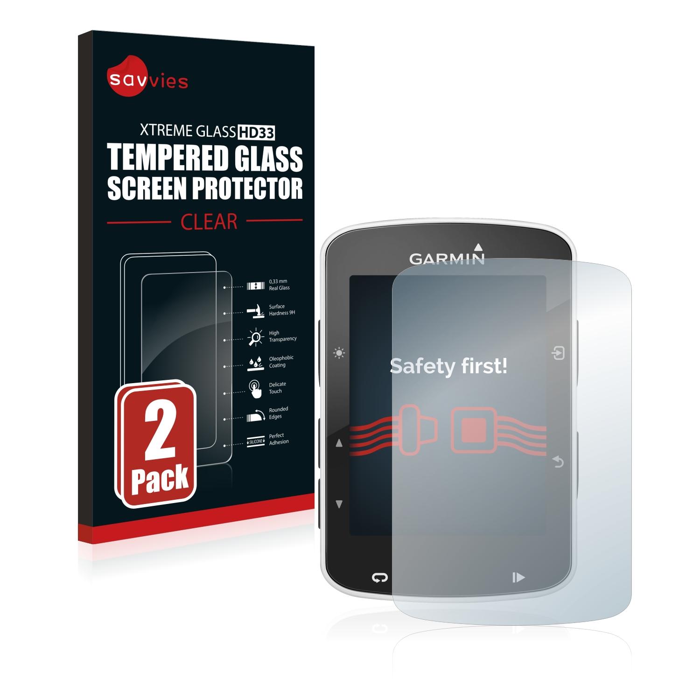 2x Savvies HD33 čiré tvrzené sklo pro Garmin Edge 520