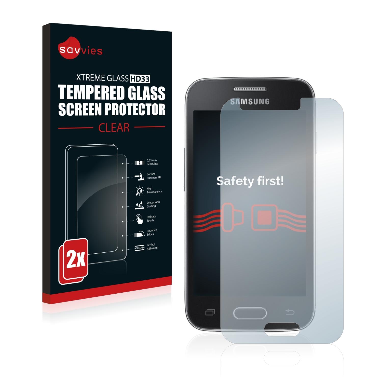 2x Savvies HD33 čiré tvrzené sklo pro Samsung Galaxy Trend II Lite