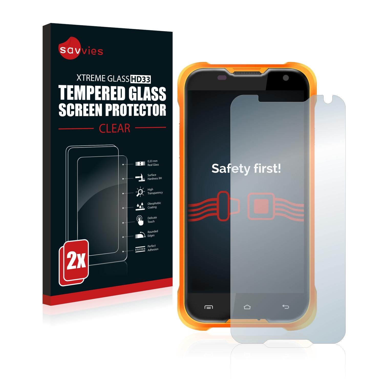 2x Savvies HD33 čiré tvrzené sklo pro Blackview BV5000