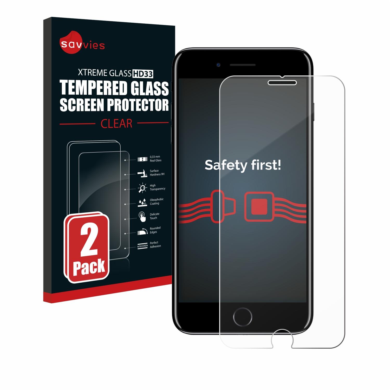 2x Savvies HD33 čiré tvrzené sklo pro Apple iPhone 7 Plus