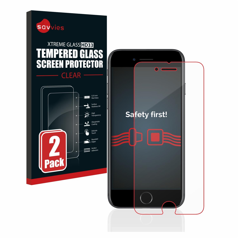 2x Savvies HD33 čiré tvrzené sklo pro Apple iPhone 7