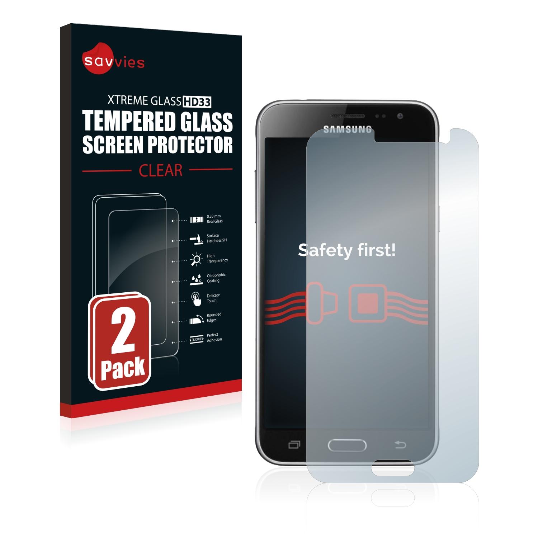 2x Savvies HD33 čiré tvrzené sklo pro Samsung Galaxy J3 Duos 2016