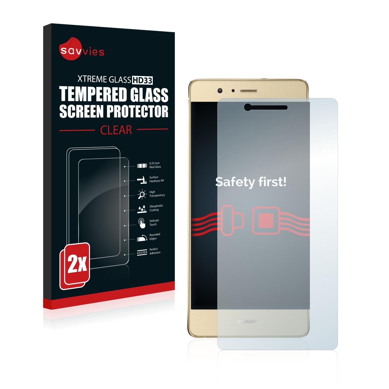 2x Savvies HD33 čiré tvrzené sklo pro Huawei G9 Lite