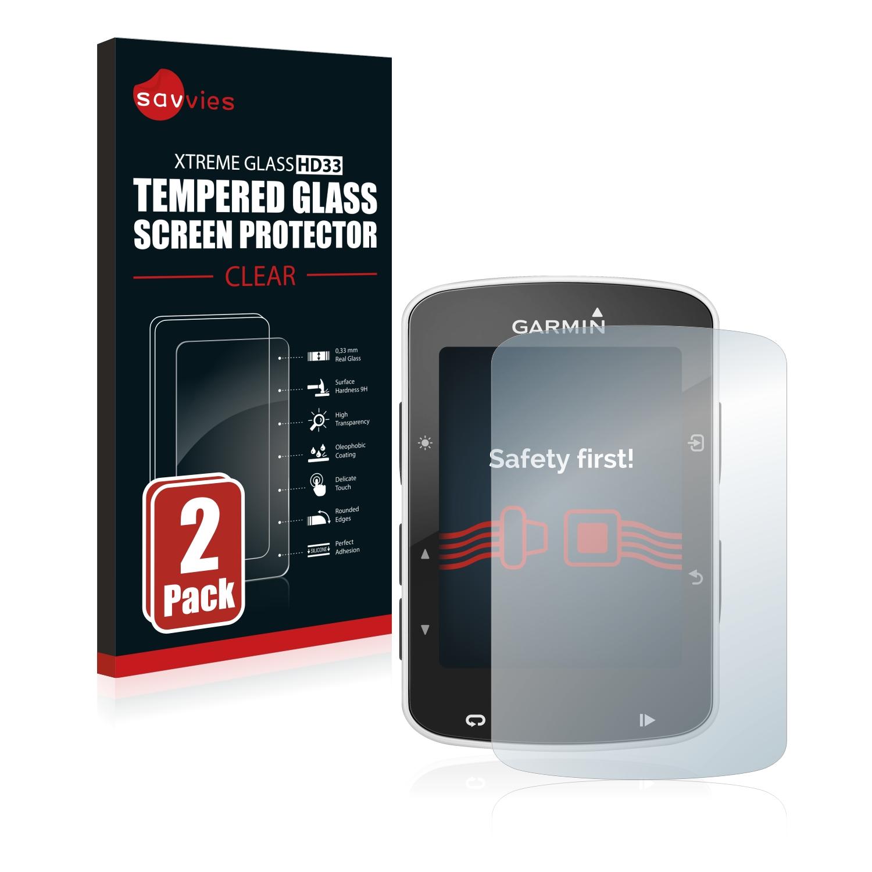 2x Savvies HD33 čiré tvrzené sklo pro Garmin Edge 820