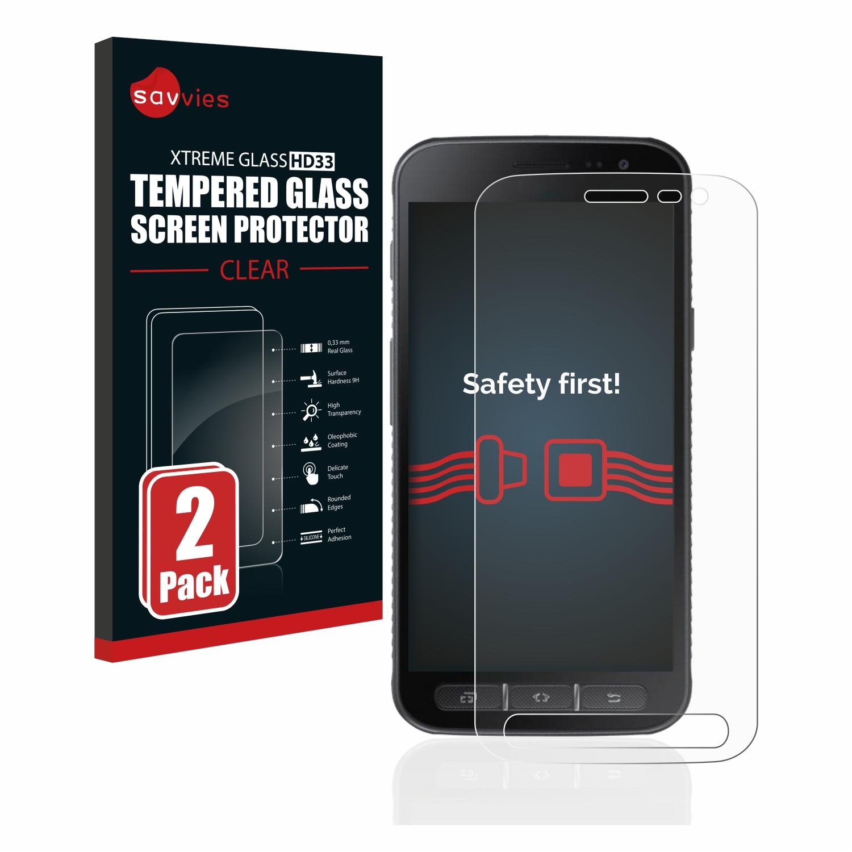 2x Savvies HD33 čiré tvrzené sklo pro Samsung Galaxy Xcover 4