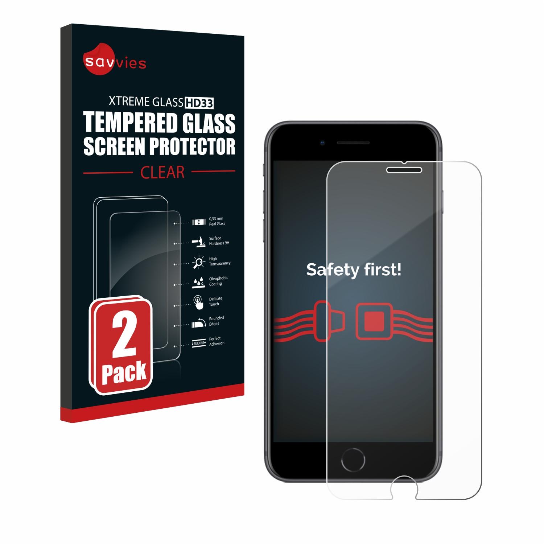 2x Savvies HD33 čiré tvrzené sklo pro Apple iPhone 8 Plus
