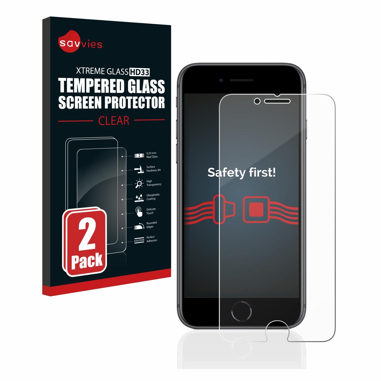 2x Savvies HD33 čiré tvrzené sklo pro Apple iPhone 8