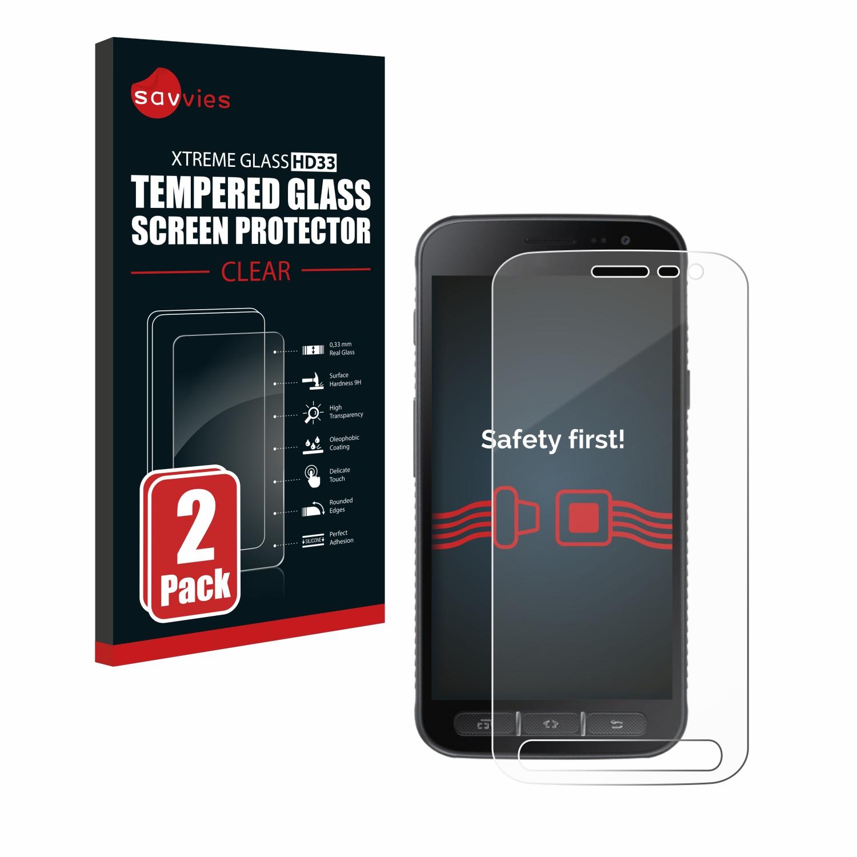 2x Savvies HD33 čiré tvrzené sklo pro Samsung Galaxy Xcover 4s