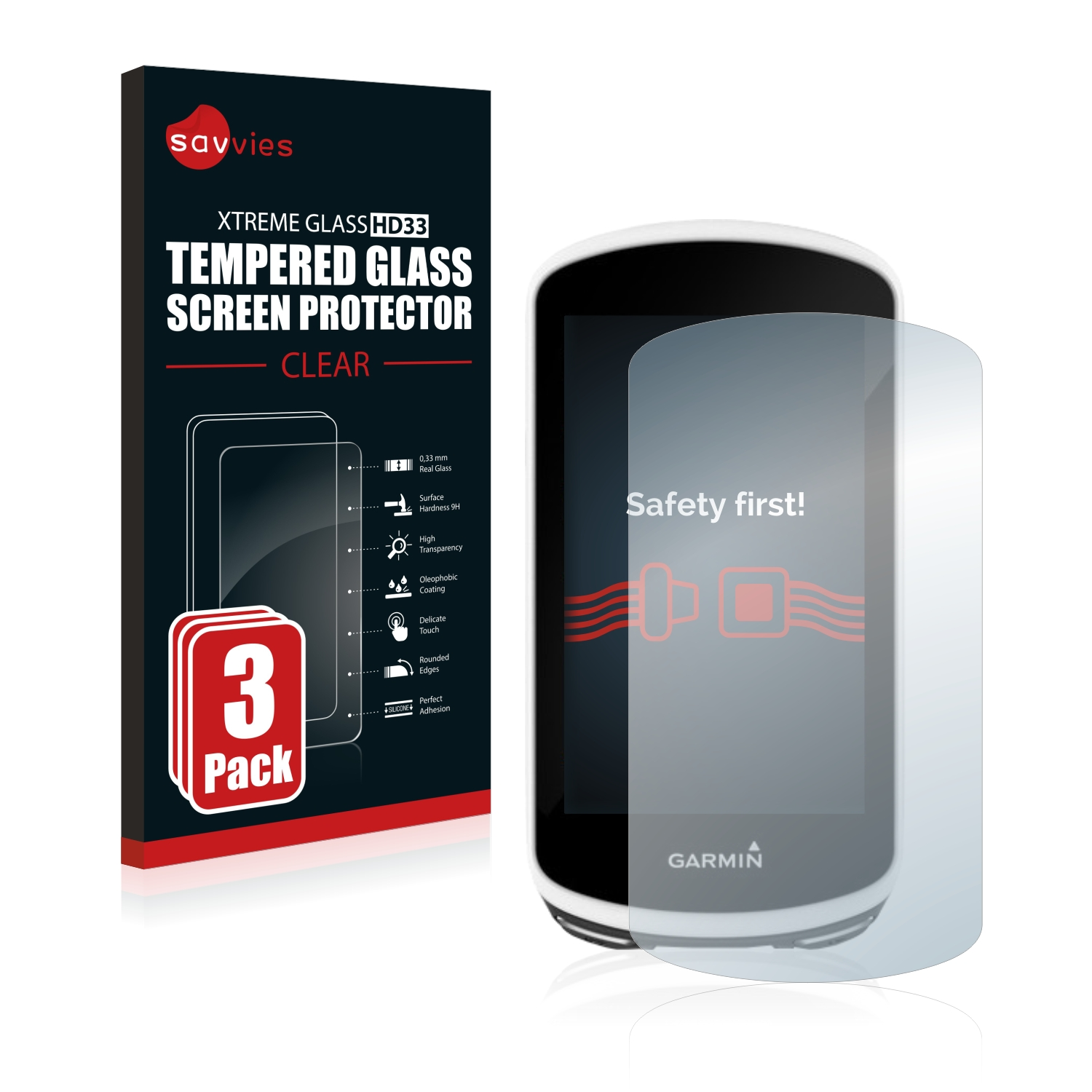 6 Pack Savvies Screen Protector compatible with Garmin Approach G8 HD-Clear Protection Film