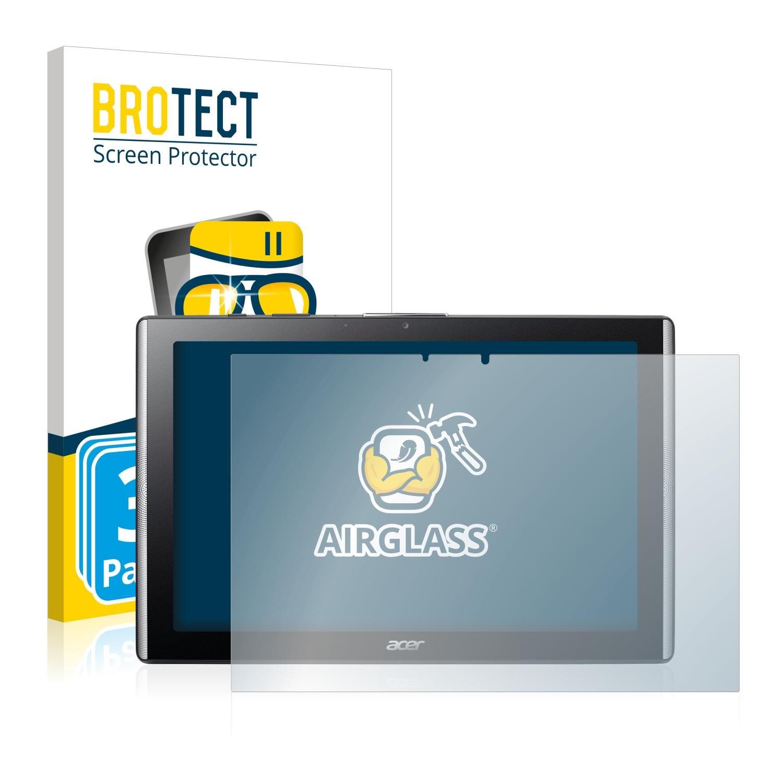 3x BROTECT AirGlass čirá skleněná fólie pro Acer Iconia One 10 B3-A40