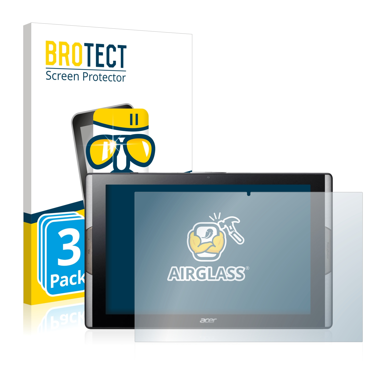 3x BROTECT AirGlass čirá skleněná fólie pro Acer Iconia Tab 10 A3-A50