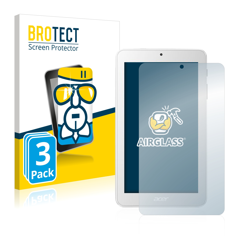 3x BROTECT AirGlass čirá skleněná fólie pro Acer Iconia One 7 B1-7A0
