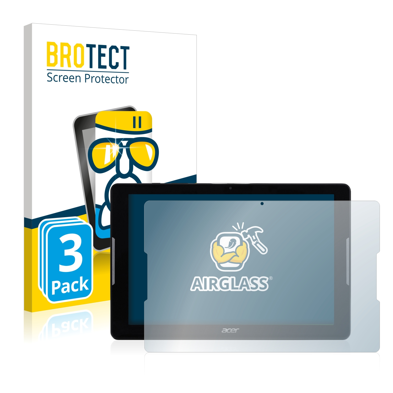 3x BROTECT AirGlass čirá skleněná fólie pro Acer Iconia One 10 B3-A32