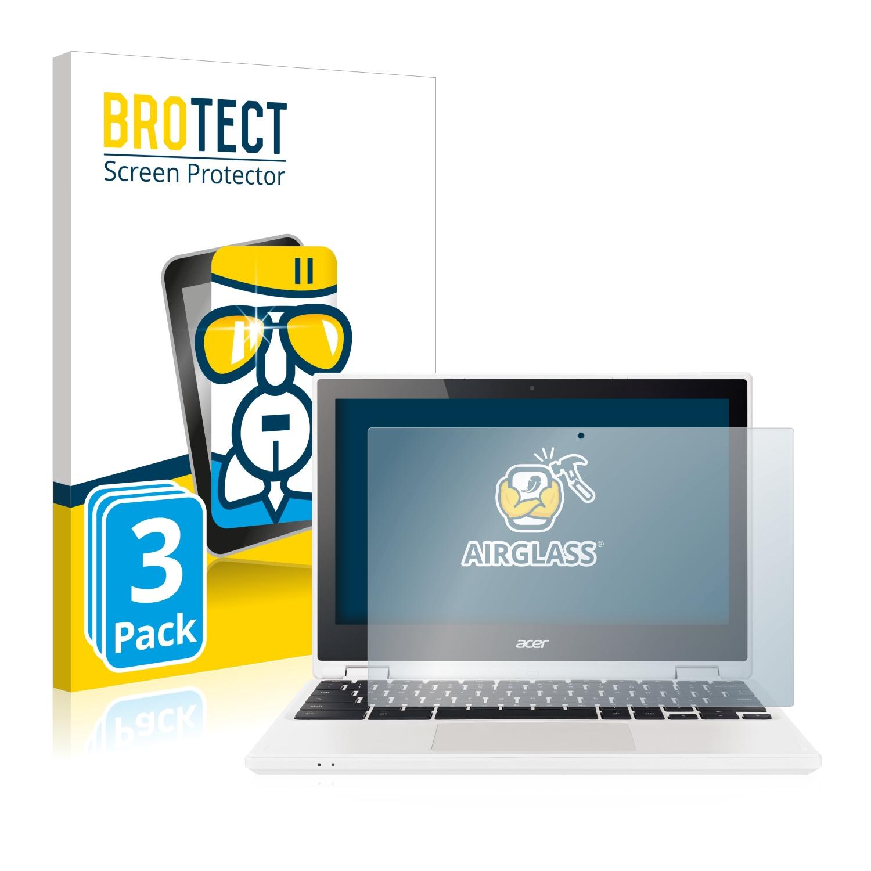 3x BROTECT AirGlass čirá skleněná fólie pro Acer Chromebook R11 CB5