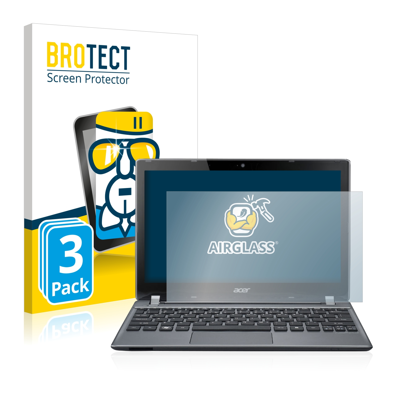 3x BROTECT AirGlass čirá skleněná fólie pro Acer Aspire V5-171-73518G50ass