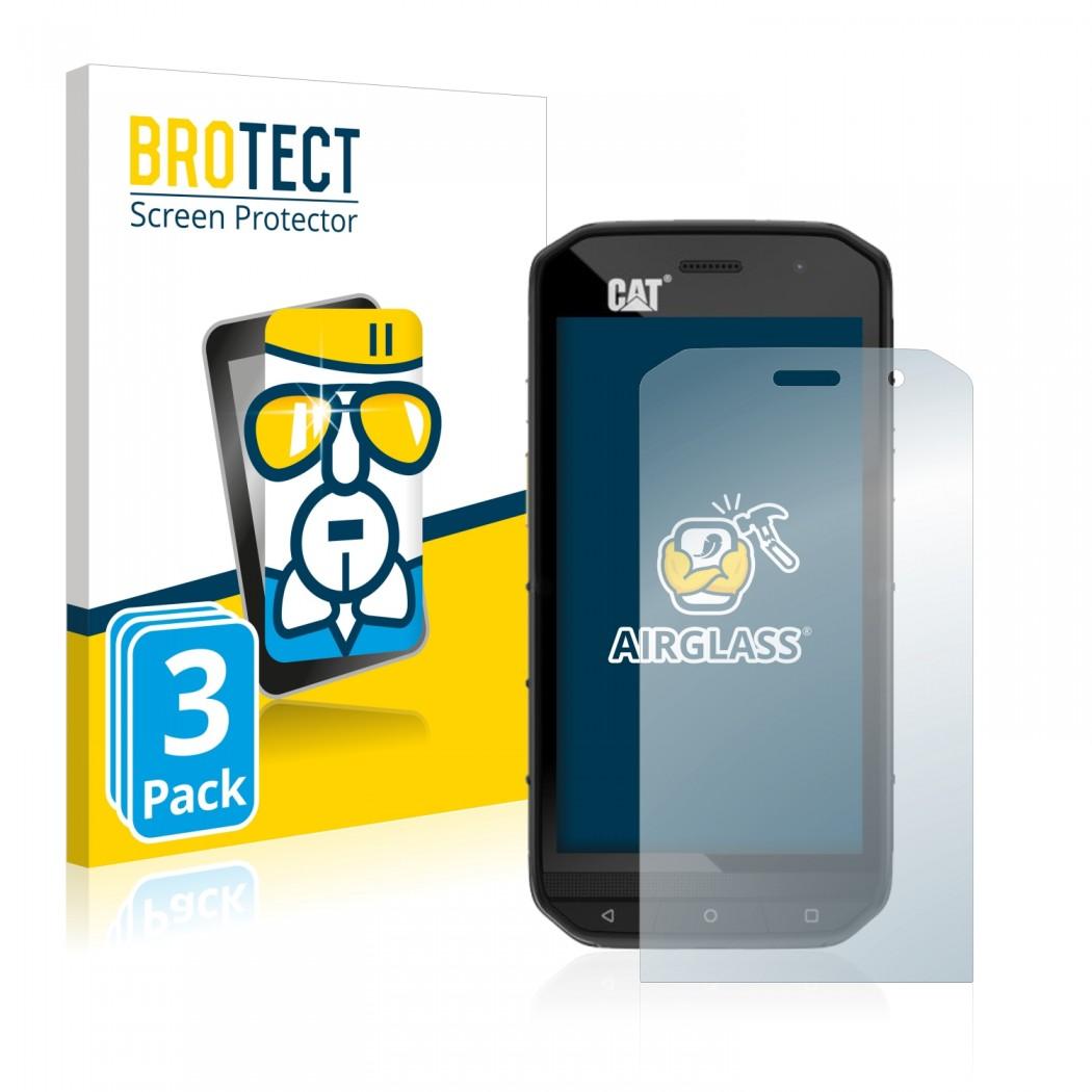 3x BROTECT® AirGlass® Glass Screen Protector for Caterpillar Cat S48c
