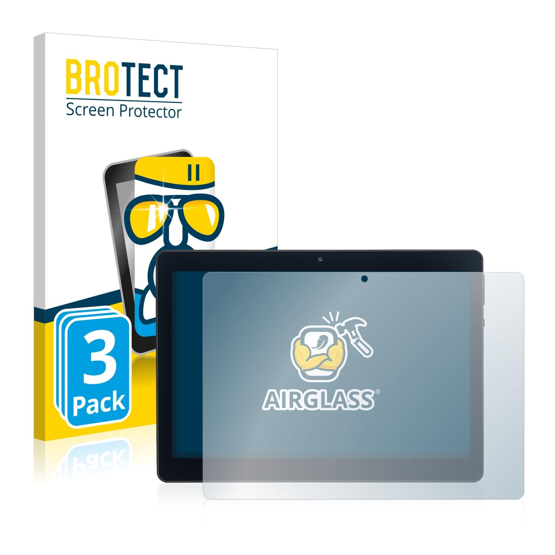 3x BROTECT AirGlass čirá skleněná fólie pro Acepad A140 10.1