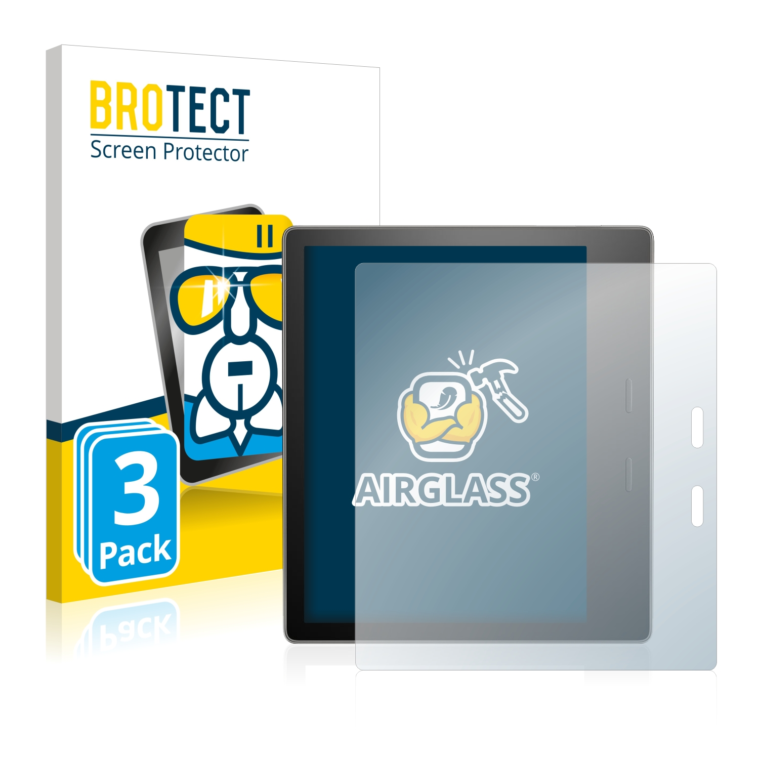 BROTECT AirGlass Screen Protector Glass compatible with  Kindle Keyboard 3G 9H