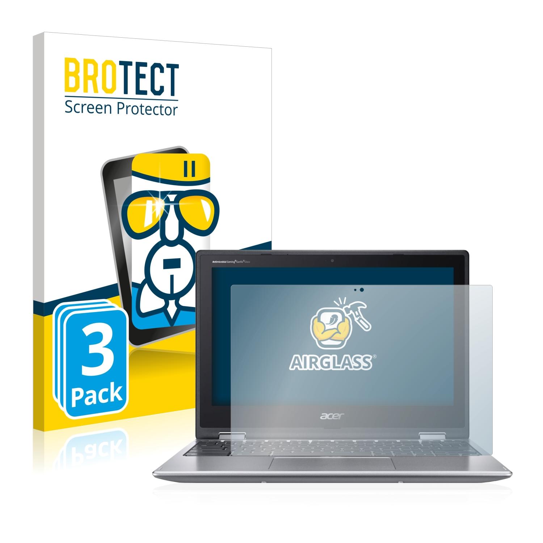 3x BROTECT AirGlass čirá skleněná fólie pro Acer Chromebook 311
