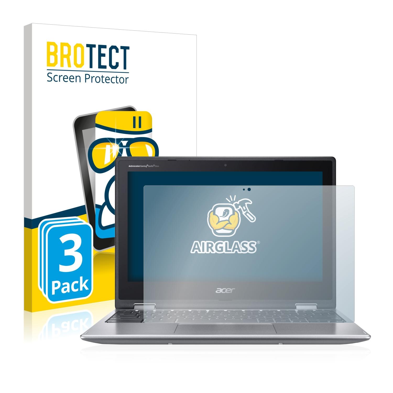 3x BROTECT AirGlass čirá skleněná fólie pro Acer Chromebook Spin 311