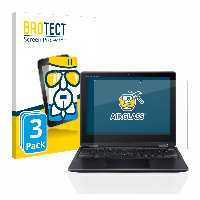 3x BROTECT AirGlass čirá skleněná fólie pro Acer Chromebook Spin 512