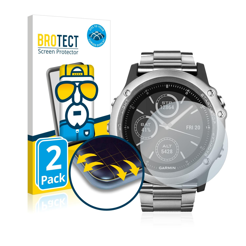 Ochranná fólie BROTECT Flex Full-Cover pro Garmin fenix 3 HR, 2ks