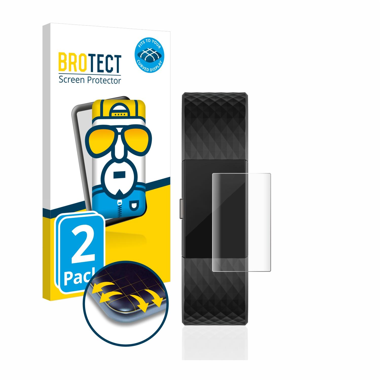Ochranná fólie BROTECT Flex Full-Cover pro Fitbit Charge 2, 2ks