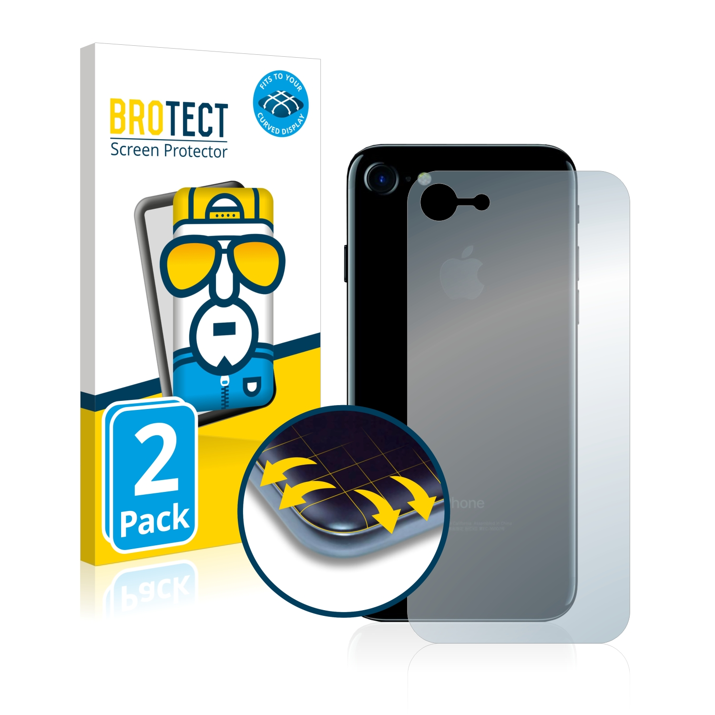 Ochranná fólie BROTECT Flex Full-Cover pro Apple iPhone 7 Zadní strana (celá oblast), 2ks