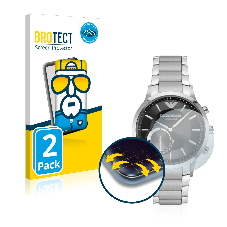 Ochranná fólie BROTECT Flex Full-Cover pro Emporio Armani Connected Smartwatch Hybrid, 2ks