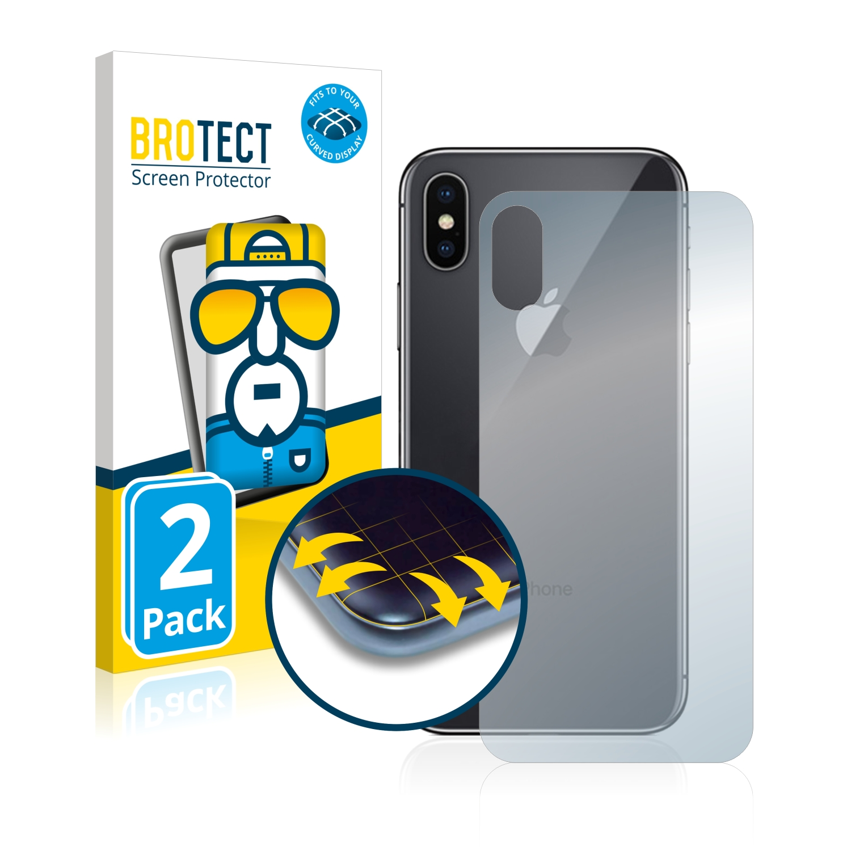 Ochranná fólie BROTECT Flex Full-Cover pro Apple iPhone X (Zadní strana), 2ks