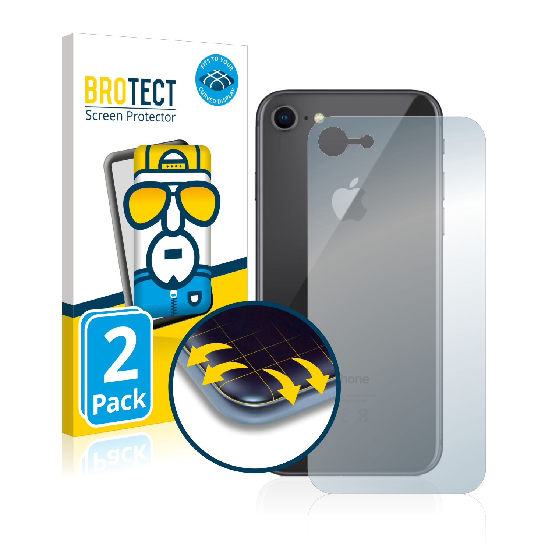 Ochranná fólie BROTECT Flex Full-Cover pro Apple iPhone 8 (Zadní strana), 2ks